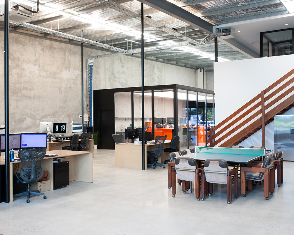 Modern Co Working space Sunshine Coast with waterfront views